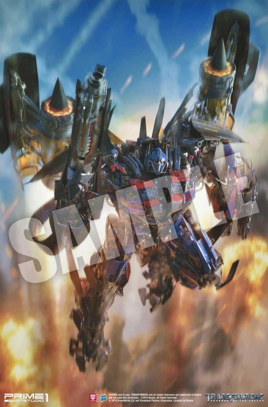 Transformers: Revenge of the Fallen (Film) Jetpower Optimus Prime Art Print
