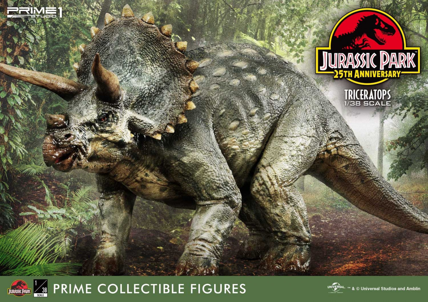 Prime Collectible Figures Jurassic Park (Film) Triceratops