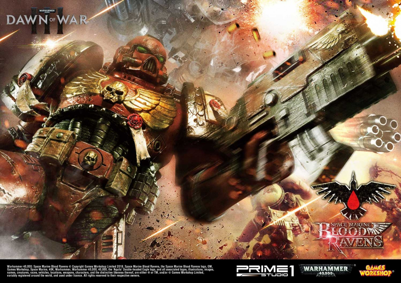 Premium Masterline Warhammer 40,000: Dawn of War III Space Marine Blood Ravens Deluxe Version