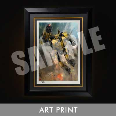 Art Print Bumblebee (Film) Bumblebee Battle Mask version