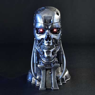 High Definition Bust The Terminator (Film) T-800 Endoskeleton Head