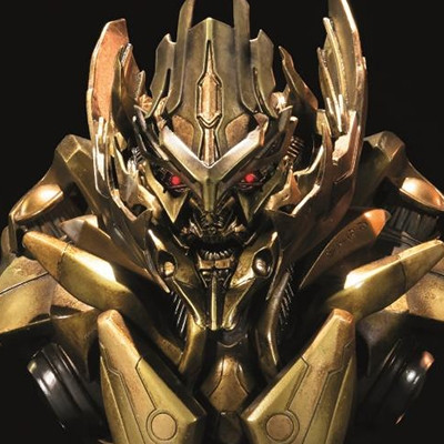 Premium Bust Transformers: Revenge of the Fallen Megatron Gold Version
