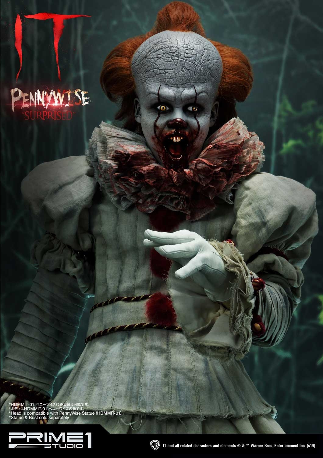 High Definition Bust IT (Film) Pennywise Head Set By Prime ...
