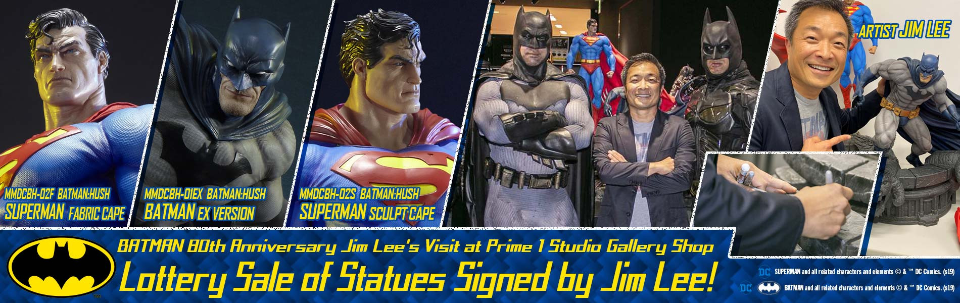Lottery Sale of Statues Signed by Jim Lee is OPEN!