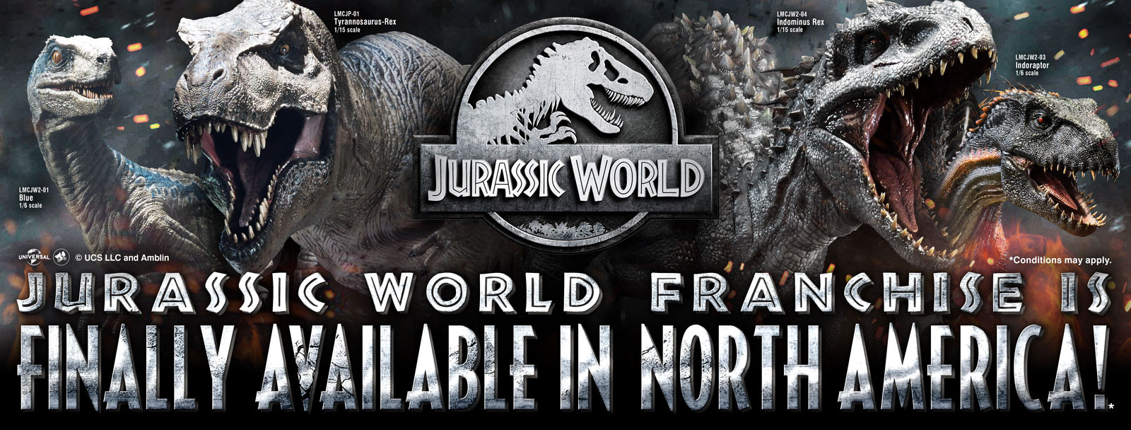 Jurassic World Franchise is finally available in North America!