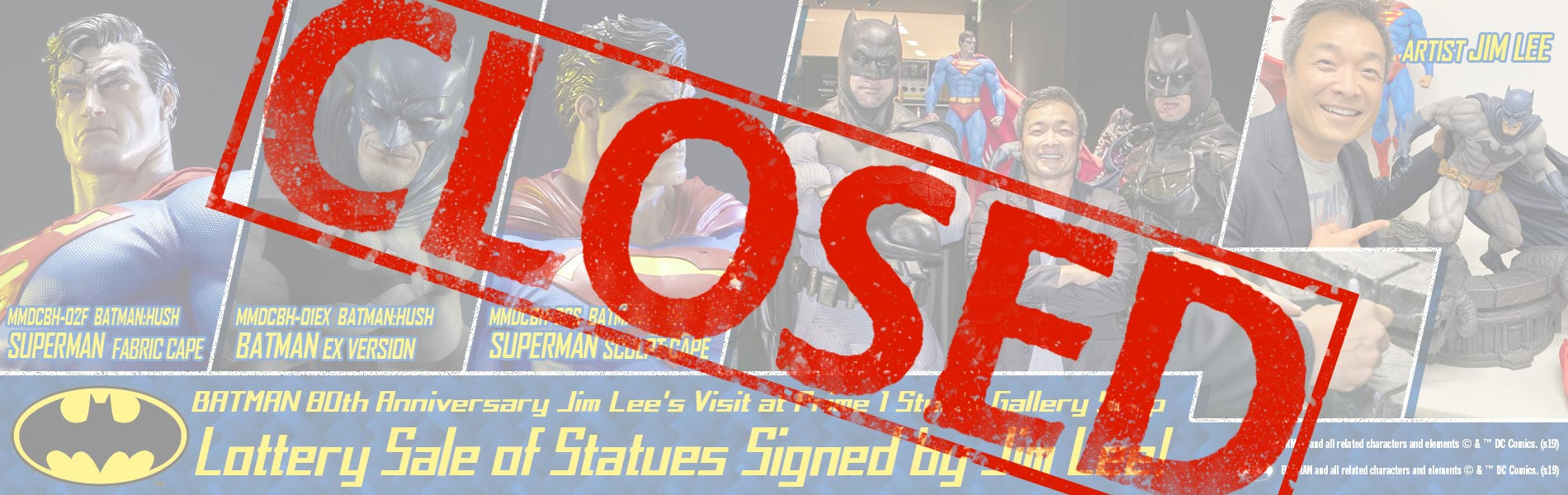 Lottery Sale of Statues Signed by Jim Lee is CLOSED!